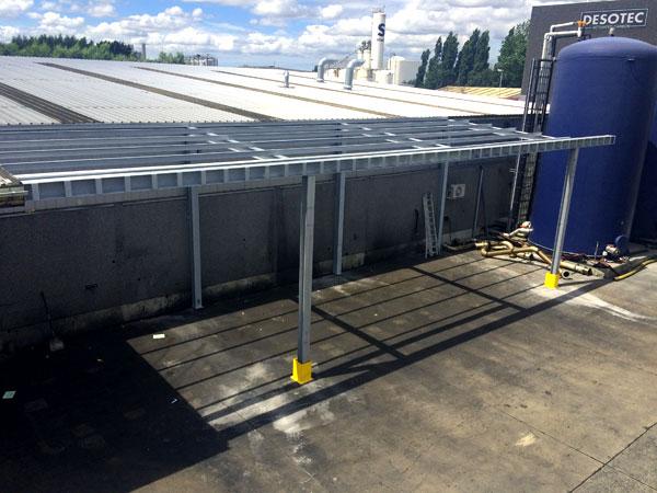 Constructie luifels trappen gehele installatie. RVS, Staal & Aluminium Metaalwerken en staalconstructies West Vlaanderen