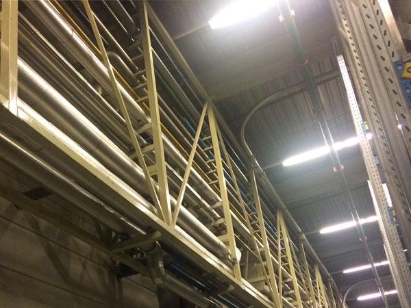 Constructie piperack. RVS, Staal & Aluminium Metaalwerken en staalconstructies West Vlaanderen