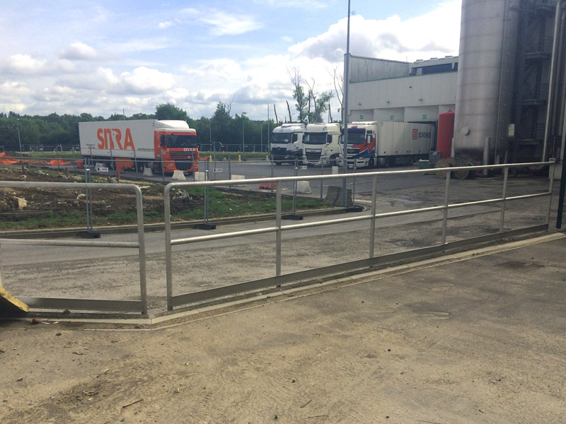 Inox Leuningen aan Parking West Vlaanderen 2