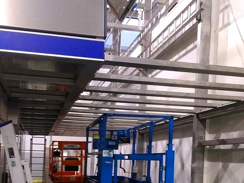 Inox Uitbouw Bordes aan Afvulmachine West Vlaanderen