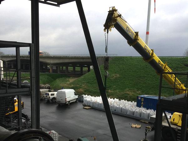 Montage demontage West Vlaanderen - Plaatsen 3 Potrellen Gevel