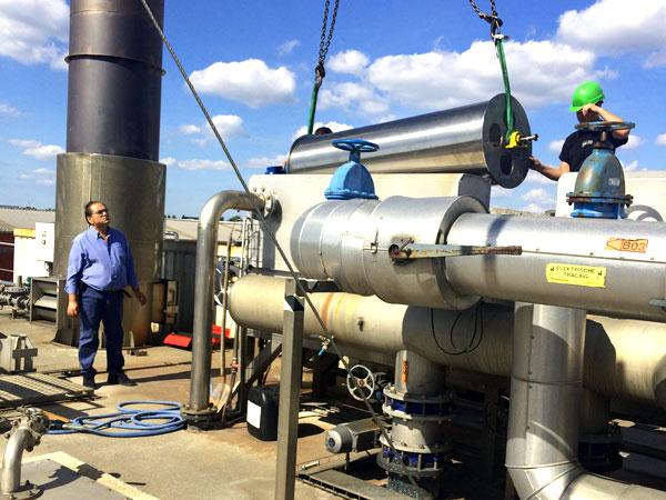 Montage demontage West Vlaanderen - Plaatsen van Trommel Waterzuivering