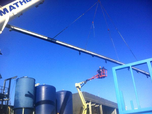 Montage demontage West Vlaanderen Redler 25 meter