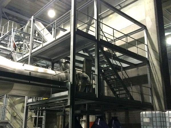 Staalconstructie West Vlaanderen - Toren Oven en Kettingtransport